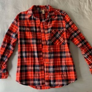 Forever 21 red/blue/white flannel